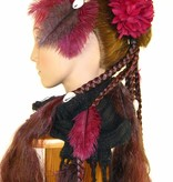 Cowry Ostrich Feather Tribal Fascinator