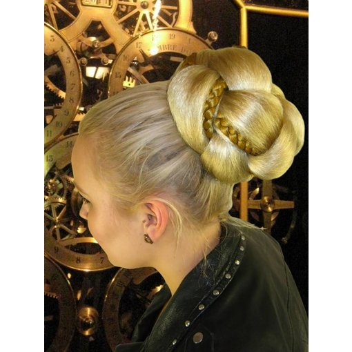 Supersize Fantasy Bun & Braid Special - fair blonde