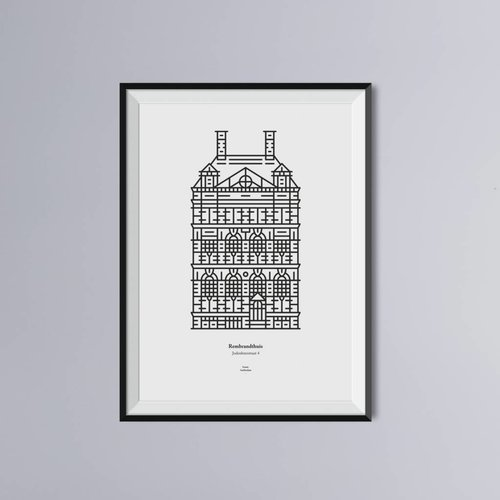 Atelier Iconic Print of the Rembrandt House