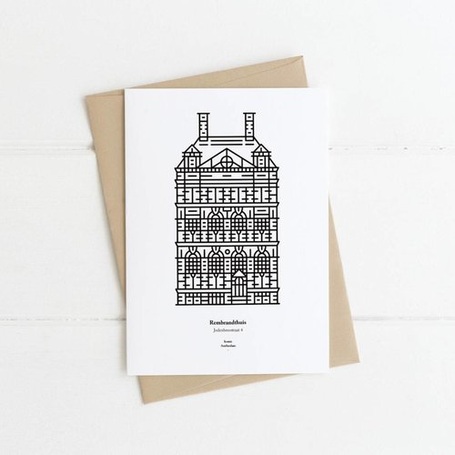 Postcard Rembrandt House