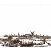 Glasses cloth View of Amsterdam