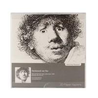 Paper napkins Self-portrait Open-mouthed