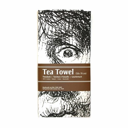Tea Towel Self-portrait Open-mouthed