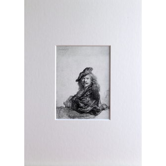 Rembrandt as Grand-Seigneur in mount