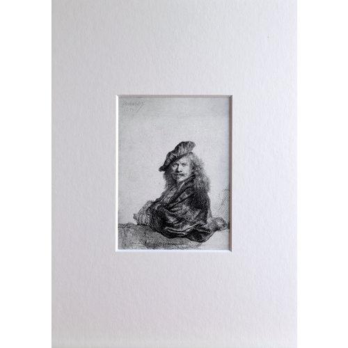 Self-portrait Leaning in mount