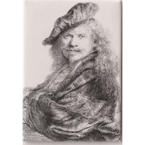 Magneet Zelfportret Rembrandt leunend