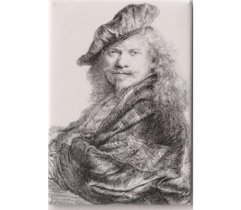 Magnet Self-portrait Rembrandt leaning