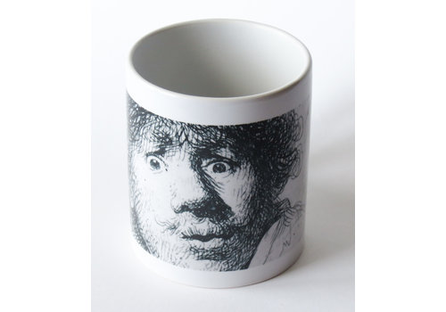 Mug Self-portrait Open-mouthed