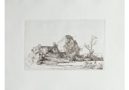 ETCHING Landscape with a Man Sketching