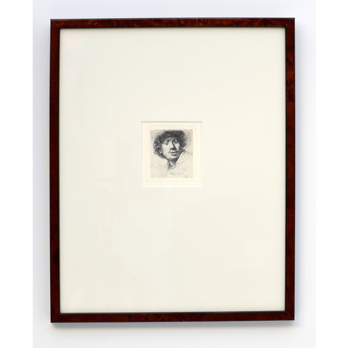 ETCHING Self-portrait Open-mouthed in Frame