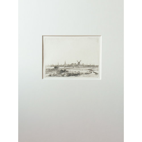 ETCHING View of Amsterdam
