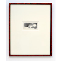 ETCHING Sleeping Puppy in Frame