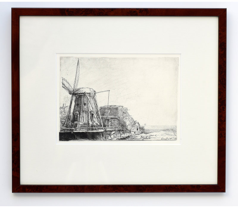 ETCHING The Windmill in Frame
