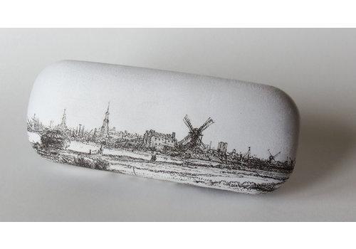 Brillenkoker Gezicht op Amsterdam