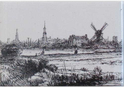 Magneet Gezicht op Amsterdam