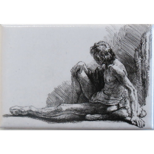 Magnet Seated Male Nude