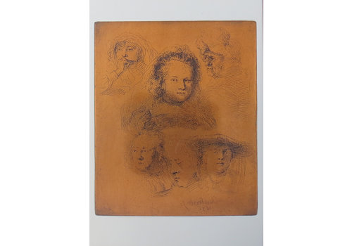 Postcards Copperplate and Etching Saskia