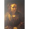 Postcard Rembrandt's  Second Wife Hendrickje