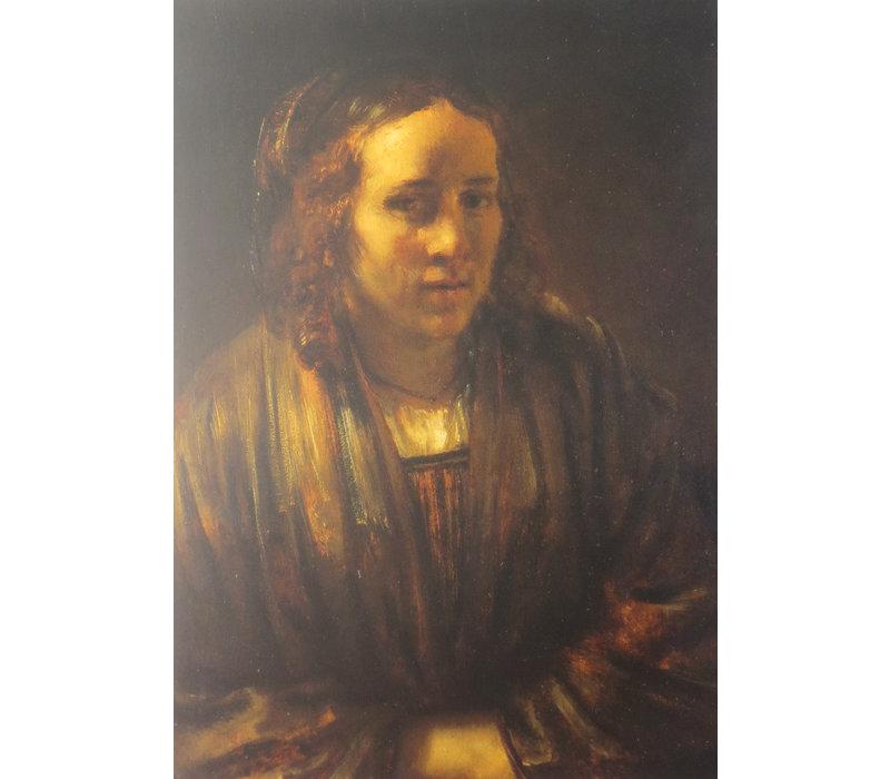 Ansichtkaart Rembrandts Tweede vrouw Hendrickje