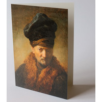 Greeting Card Old Man with Fur Cap
