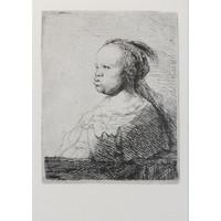 3 Ansichtkaarten Zwart in Rembrandts tijd