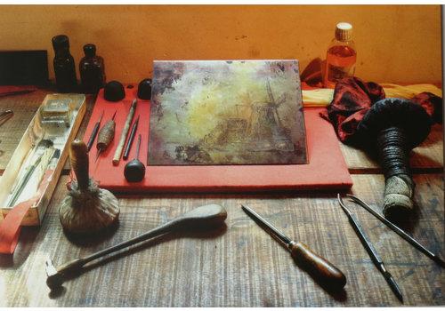 Postcards Etching Technique