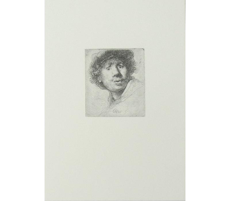 Postcard Self-portrait Open-mouthed