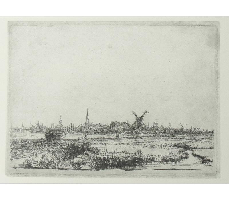 Ansichtkaart Gezicht op Amsterdam