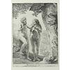 Ansichtkaart Adam en Eva