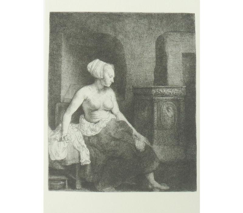Ansichtkaart Half geklede Vrouw