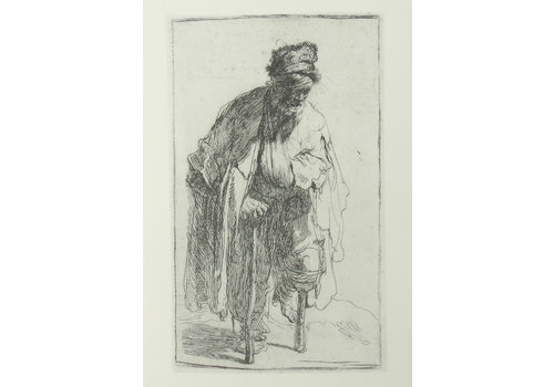 Postcard Beggar with Wooden Leg