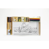 Colour-in postcards Rembrandt