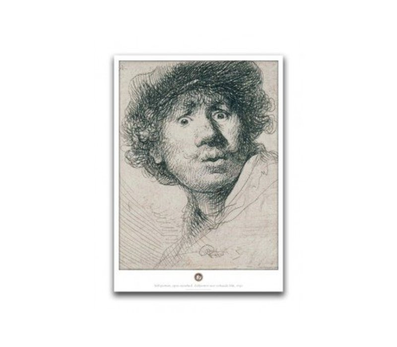 Poster Rembrandt Open-mouthed