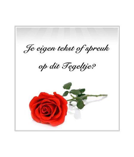 Tegeltje roos