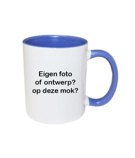 Mok met foto (blauw)