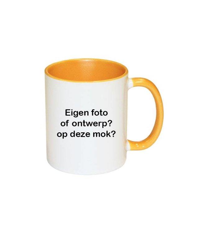 Mok met foto (geel)