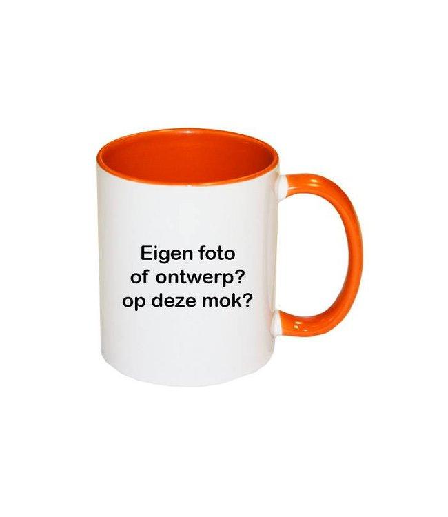 Mok met foto (oranje)