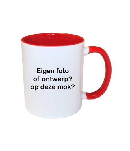 Mok met foto (rood)