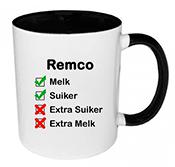 Koffiemok met naam bedrukken (zwart)