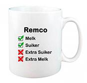 Koffiemok met naam bedrukken