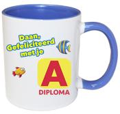 Zwemdiploma mok A diploma blauw