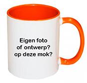 Oranje zwemdiploma mok met eigen tekst of ontwerp.
