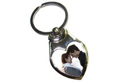 Valentijn sleutelhanger met foto hart