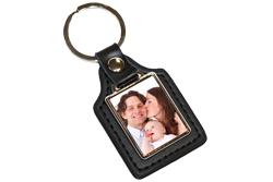 Valentijn sleutelhanger met foto rechthoek