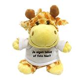 Kraamcadeau met naam knuffel giraffe