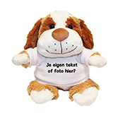 Kraamcadeau met naam knuffel hond