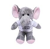 Kraamcadeau met naam knuffel olifant