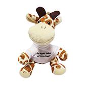 Kraamcadeau met naam knuffel girafje