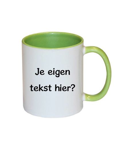 Mok met tekst (groen)