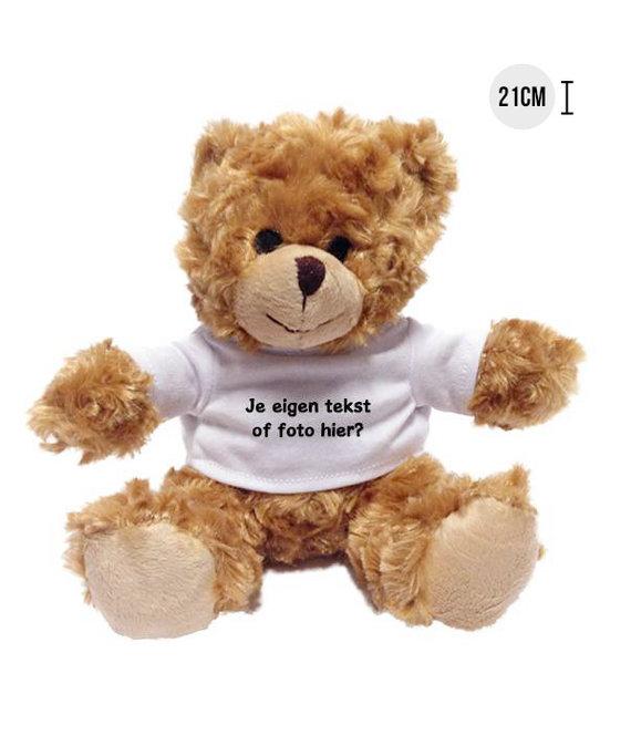 Knuffel Teddybeer met naam, tekst of foto